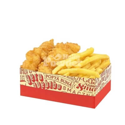 battered fish and chips box