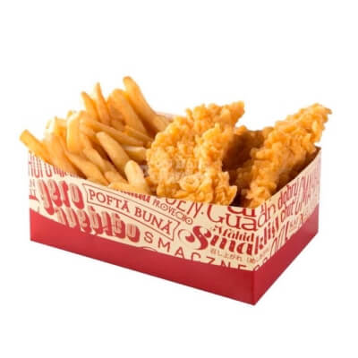 Box with chicken strips a la kfc