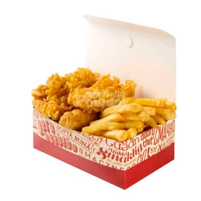 Box with crispy chicken strips ala kfc
