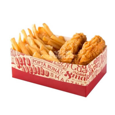 box with hot wings