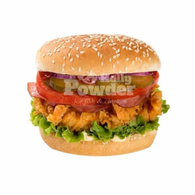 breaded fried chicken burger