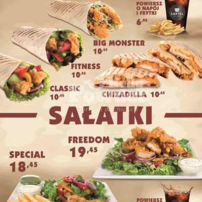 chicken menu for fast food restaurants X2