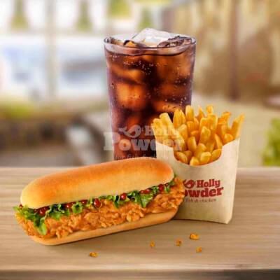 crispy fried chicken sandwich meal