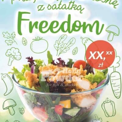 crunchy chicken salad poster