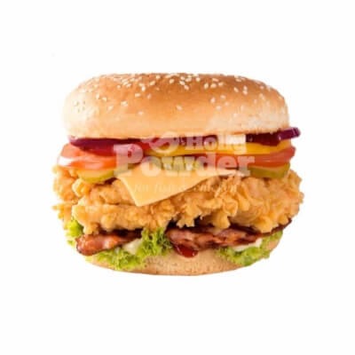 deep fried chicken burger