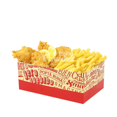 Box with Fisch and fries