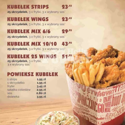menu boards for fast food restaurants with crispy chicken X4