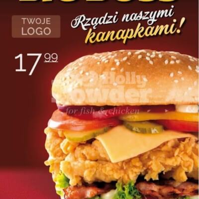 poster with chicken burger T1