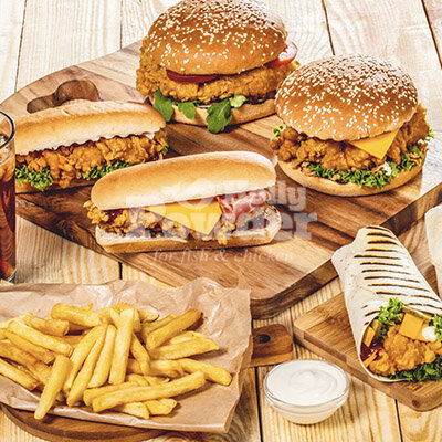 salad with cripsy batter chicken